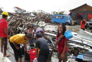 In the second week after Typhoon Haiyan– help is getting through