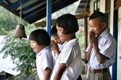 Students in Thailand. Social policy can have a big impact on children's education