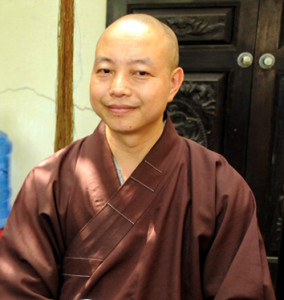 Monk Huan, chief monk of the pagoda, advises Buddhist teachings focused on stigma reduction and information on HIV have reached over 2,000 young people