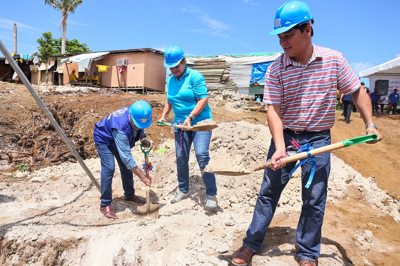 A new building to protect families is being constructed