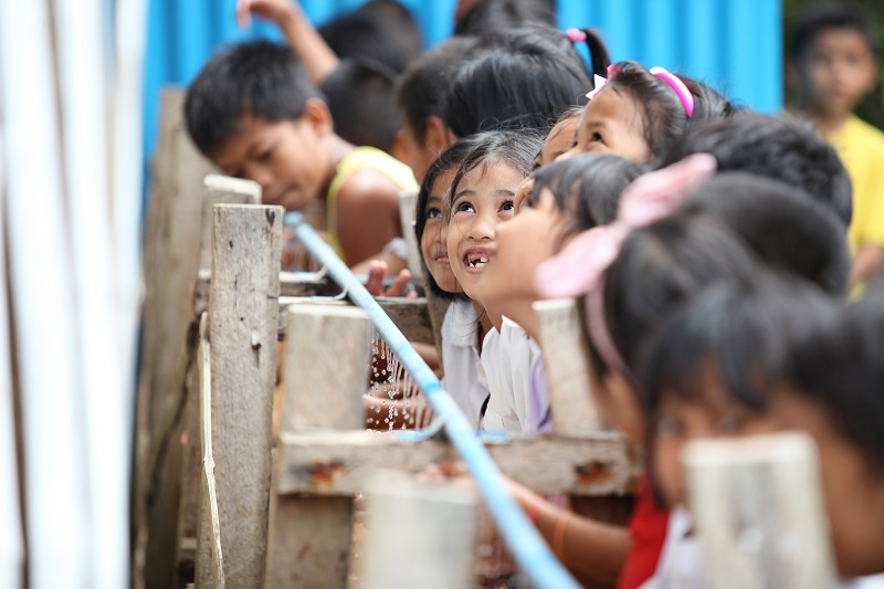 30,000 children are benefiting from clean water in schools
