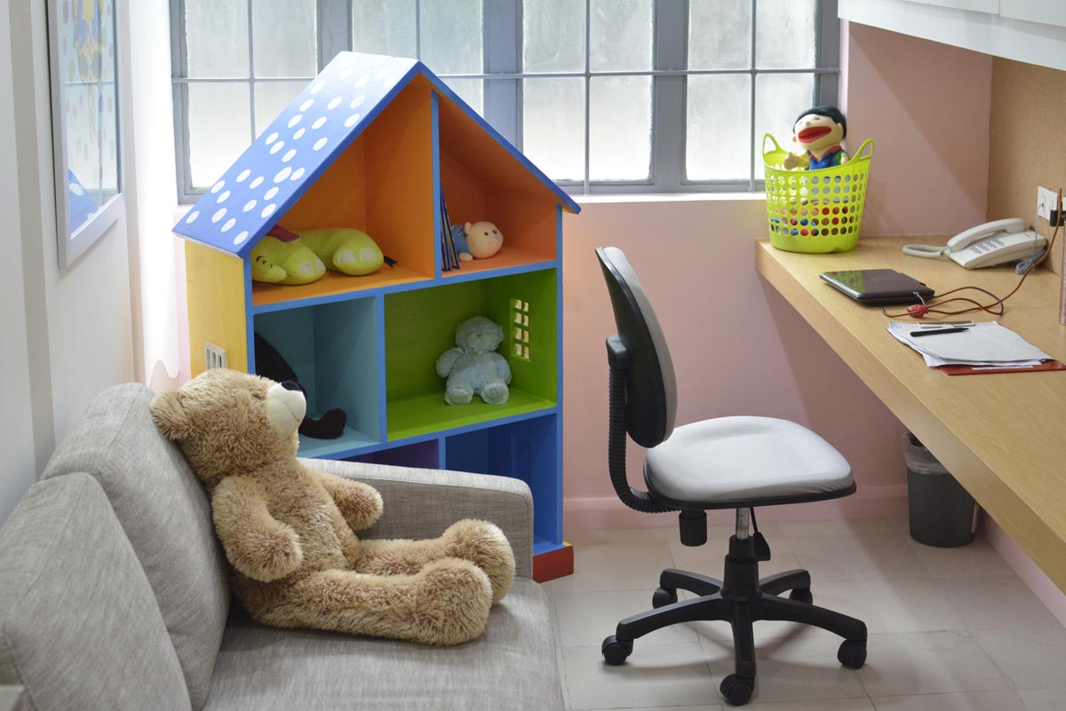 One of the therapy rooms at the Child Protection Network, where Jennifer was interviewed