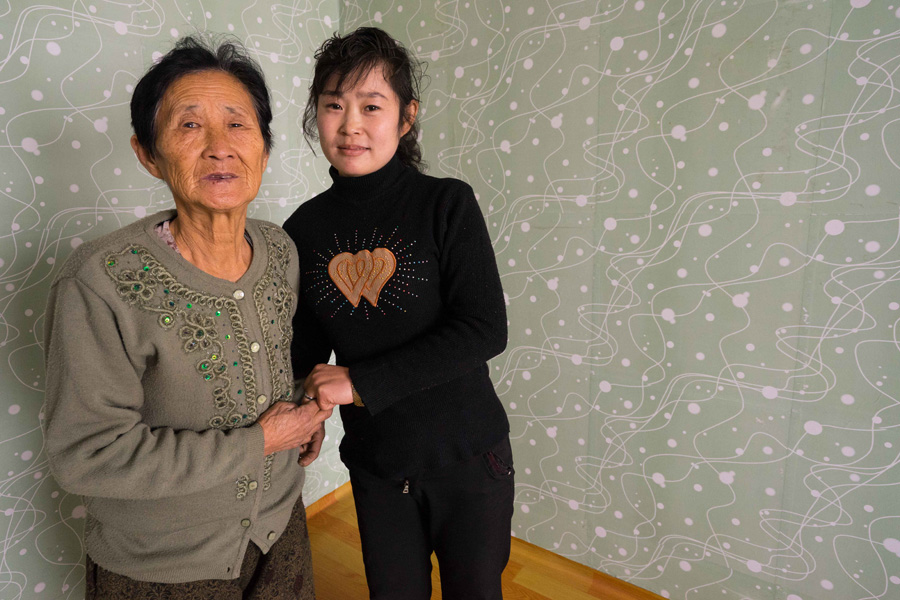 Ri Hyang Sim, who is pregnant, received help from a UNICEF supported health clinic.