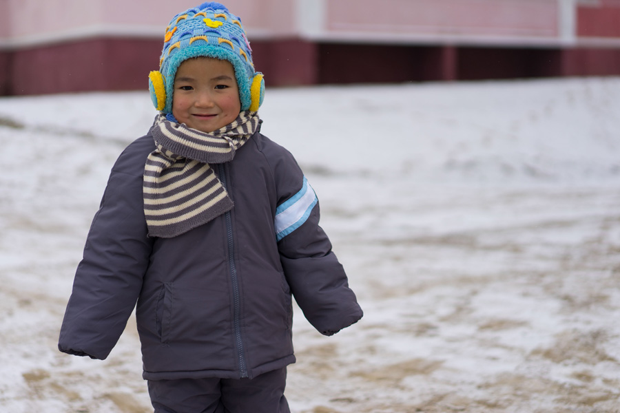 UNICEF provided warm clothing for around 30,000 children.