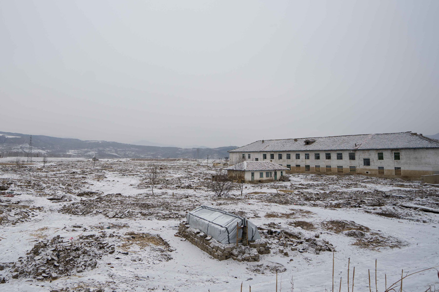 Where Min Song Ju's village once stood before the floods washed everything away.