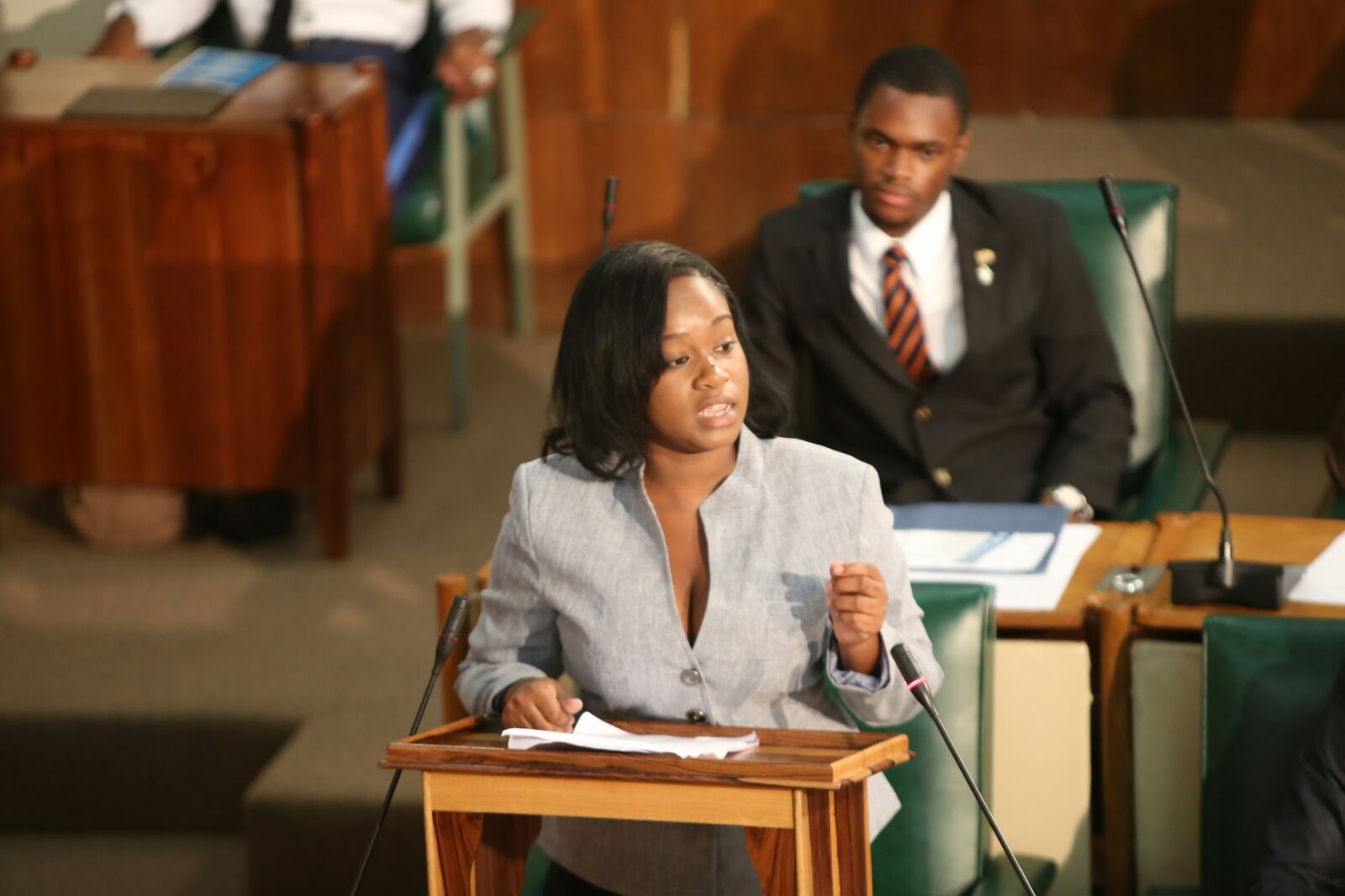 tina renier jamaica youth parliament