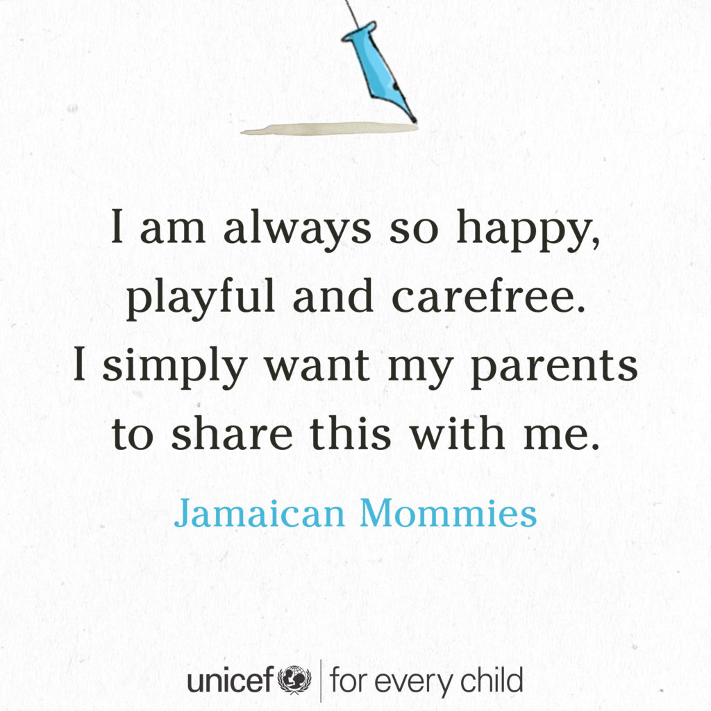#foreverychild tiny stories jamaican mommies