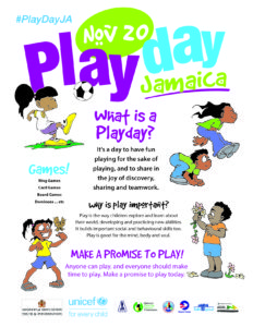 Photograph of the flyer for Play Day 2018, held on World Children's Day, November 20.