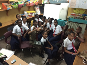 Photograph of students at St. Richard's Primary in Kingston
