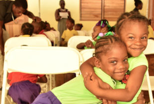 Photograph of children at Savanna-la-Mar Inclusive Infant Academy, Jamaica's first inclusive school