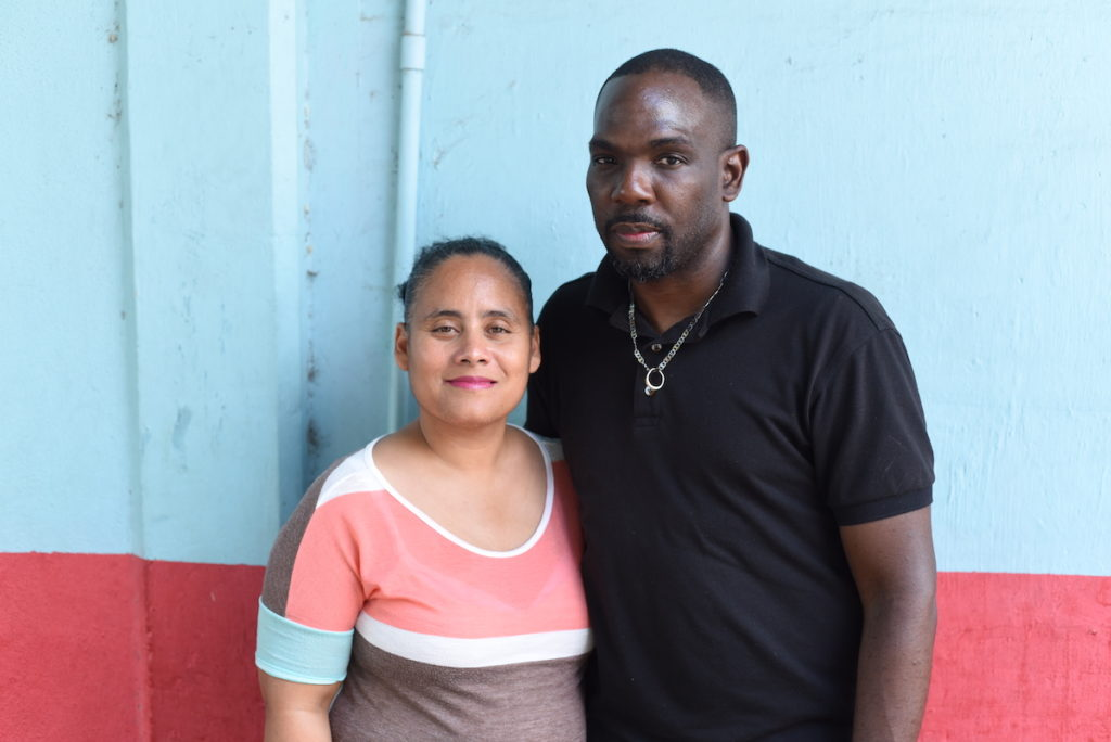 Lisa and Stephen Henderson at a recent parent support group meeting held by the Jamaica Autism Support Association (JASA).