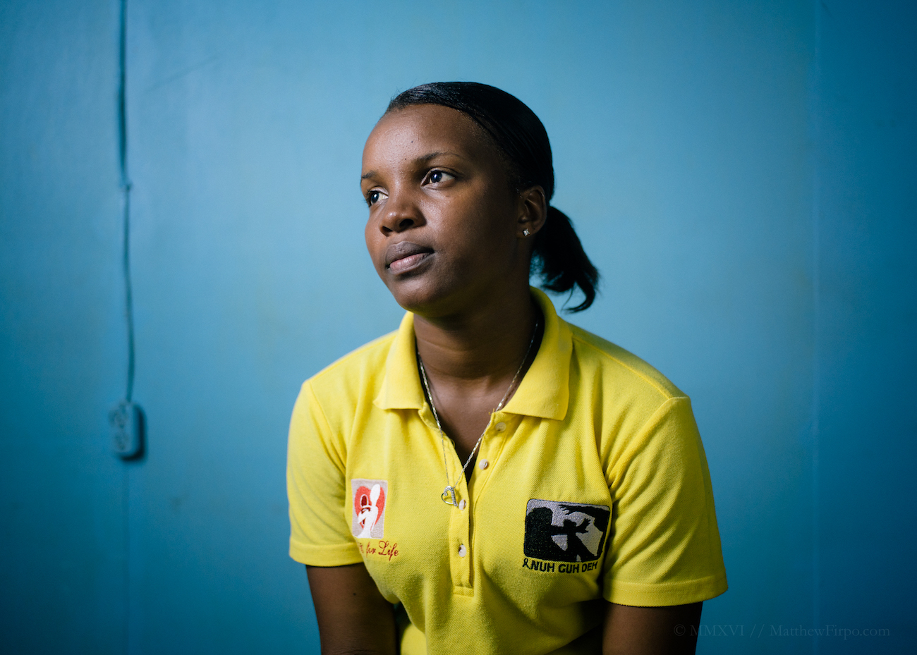 Photograph of Rushell Gray an Eve for Life Mentor Mom who helps the organisation protect and rebuild the lives of girls who have been victims of sexual violence. Rushell was raped by her stepfather at the age of 9.