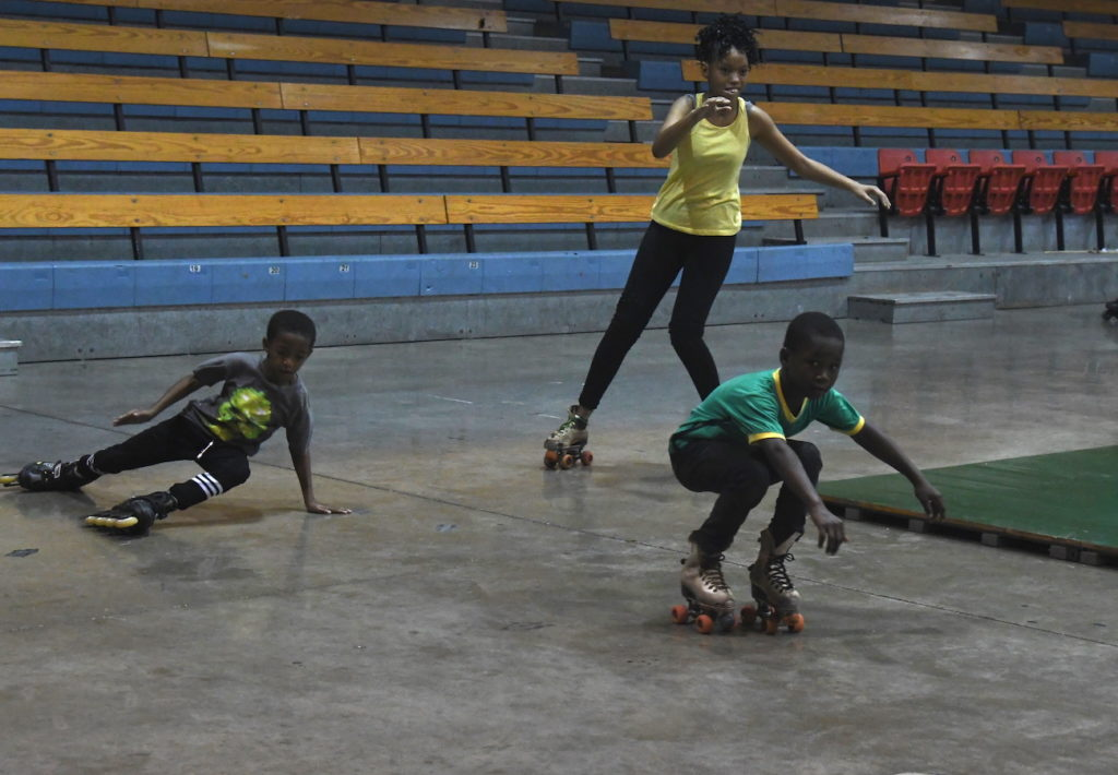 Photograph of Children enjoying themselves at the Special Olympics Unified Sports Event held at the National Indoor Sports Arena on Saturday, November 23.