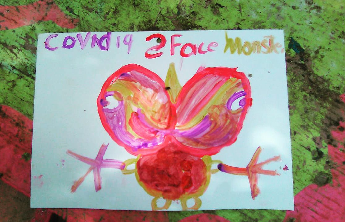 Painting by Devaughn Burke, aged 4, from a recent contest hosted by the Araba Scott Children's Foundation in St Thomas.
