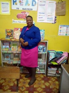 Photograph of Teacher Viviene Gauntlett of Port Maria Primary School in St Ann. Port Maria is participating in the pilot of the School Wide Positive Behaviour Intervention and Support (SWPBIS) framework, which is supported by UNICEF.