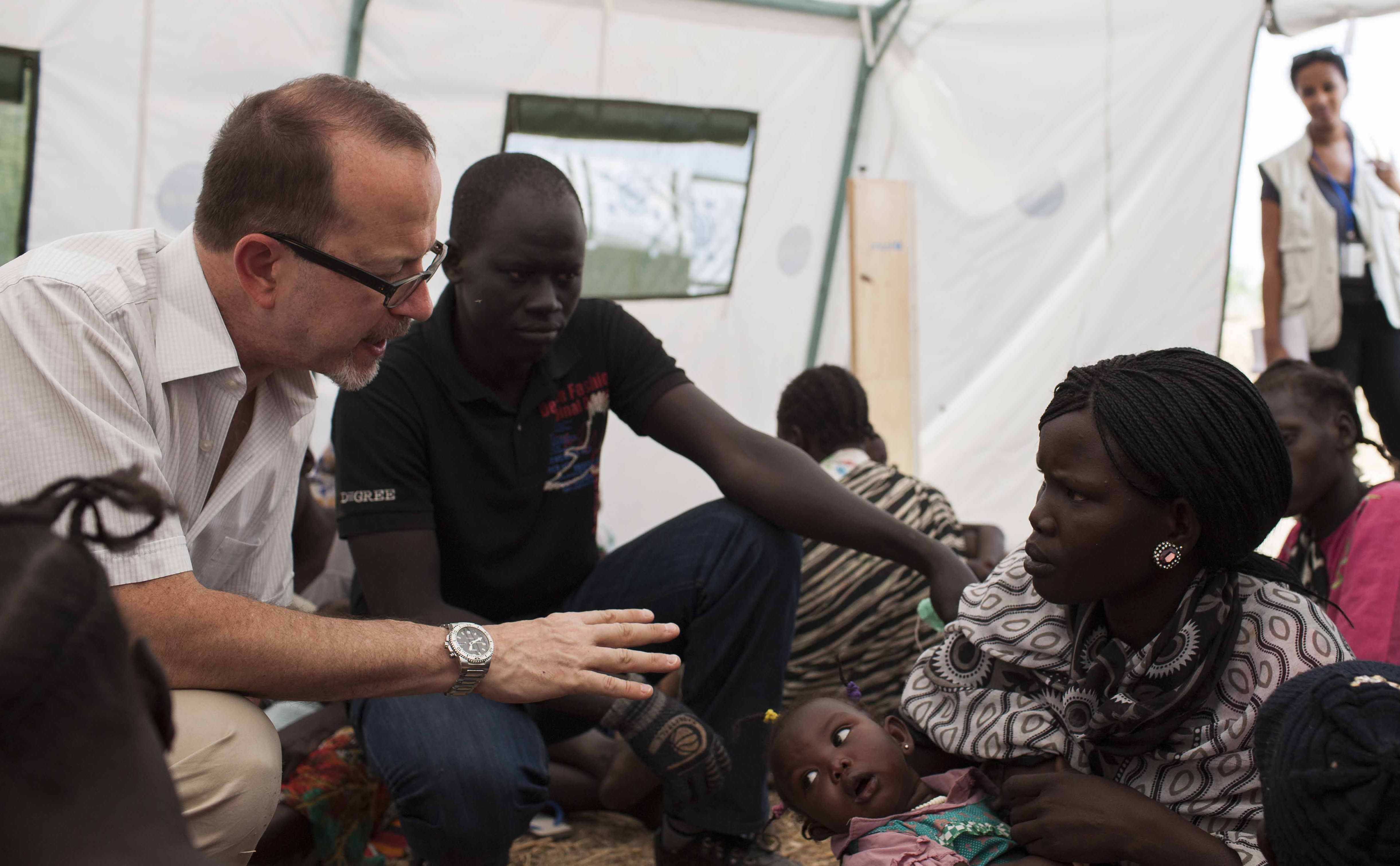 Mingkaman camp for internally displaced persons In South Sudan, 15 February 2014