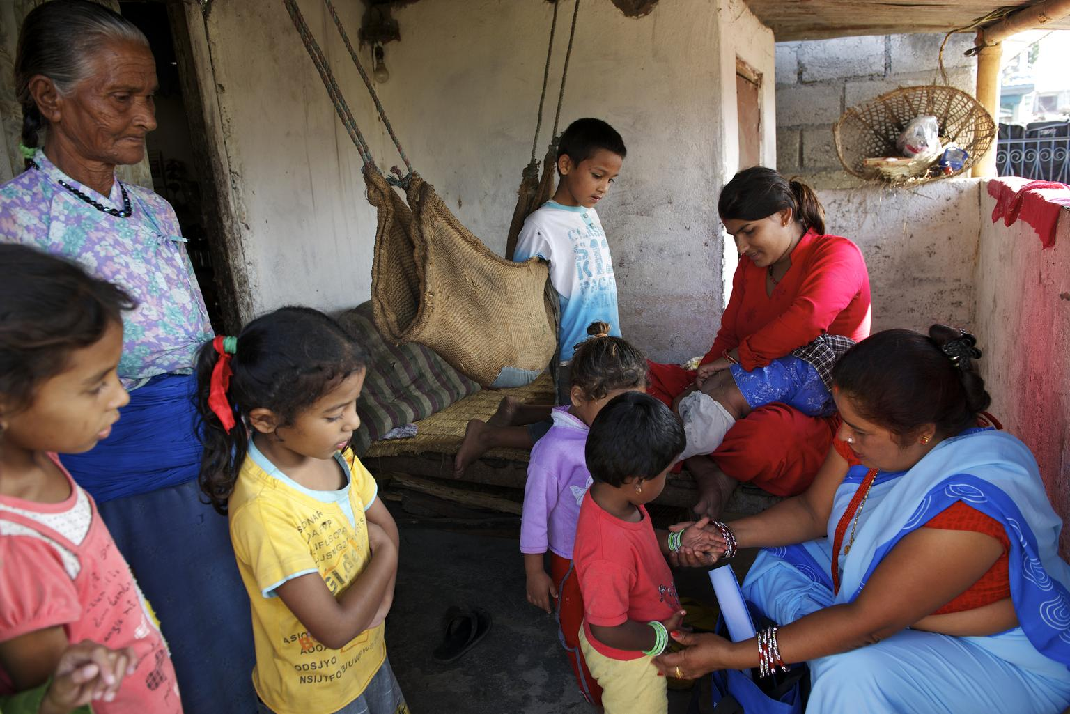 There are over 50,000 Community Health Volunteers in Nepal, and they play a very important role in delivering health services in the country.