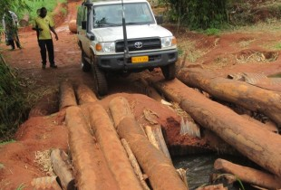 Rough terrain is no match for this nutrition team in DRC