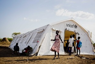 Over 400,000 boys and girls have fled their homes, seeking to escape the violence in South Sudan.