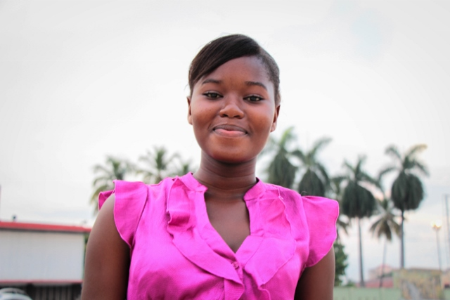 Keulliana, 14 years old, is DRC Ambassador for Peace for the Province of Kinshasa.