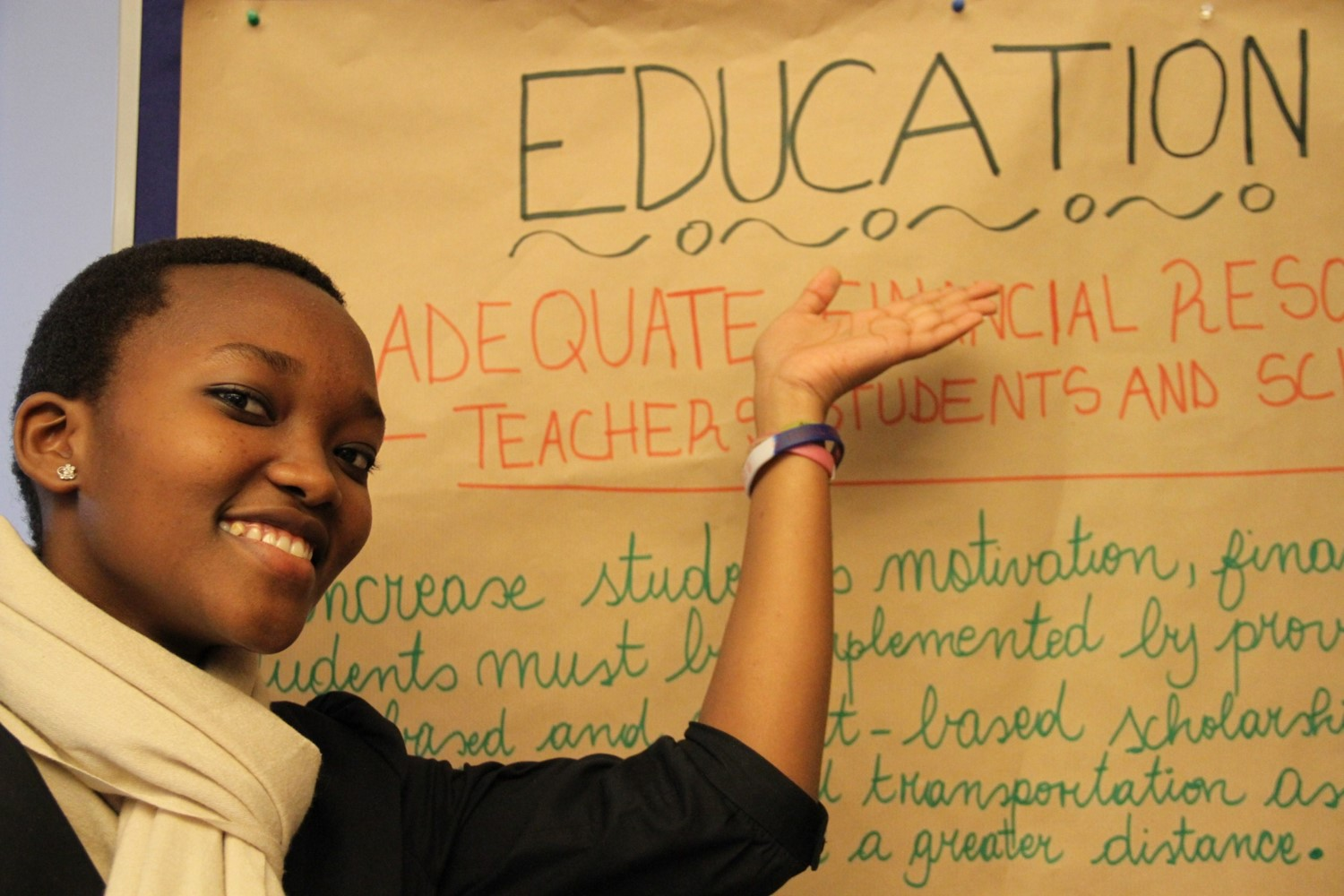 Peace feels that education is the key for a better future.
