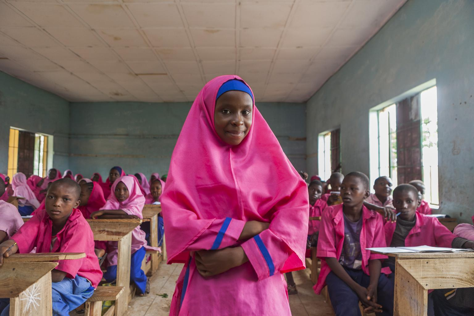 Nailatu (12) attends primary school in the town of Toro, Bauchi State, Nigeria. Nigeria continues to face challenges in ensuring quality education for children – especially girls.