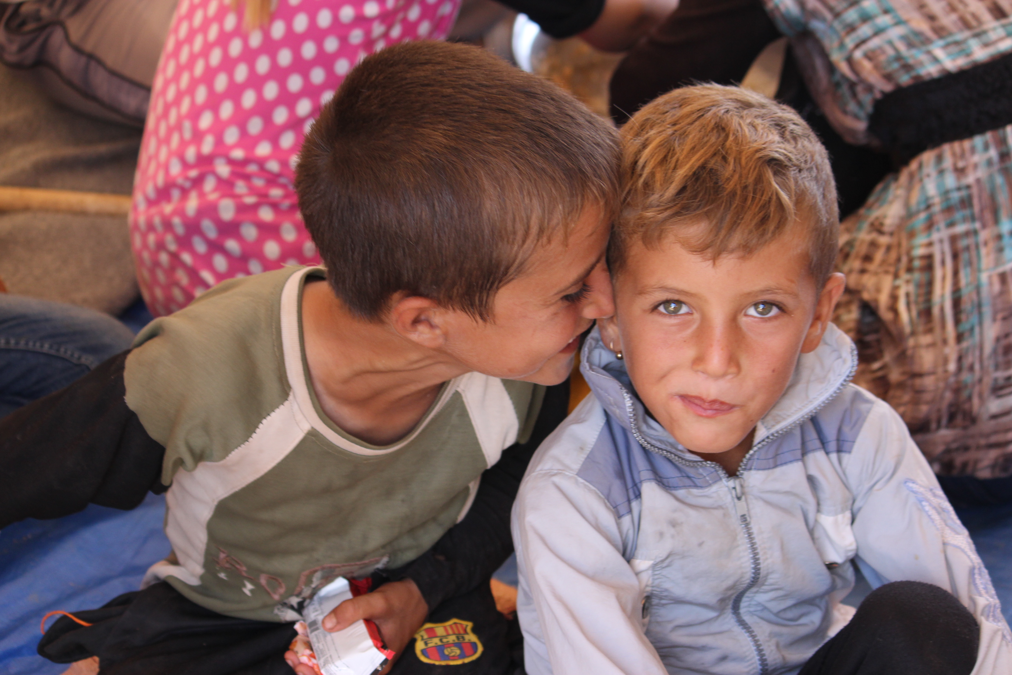 Two young Yazidi boys at the Nawrouz refugee camp. © UNICEF Syria/2014/Razan Rashidi