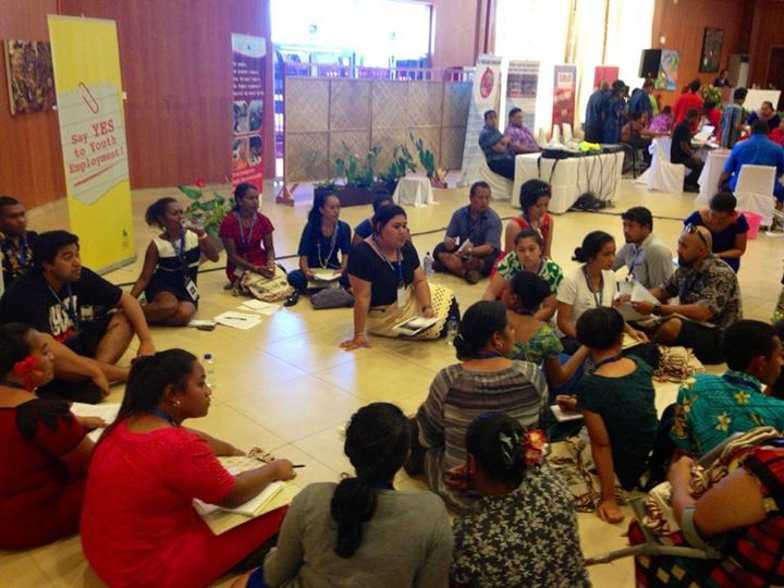 Youth from across the three SIDS regions converged in deep discussions on Education, Health, Climate Change and Employment during the Youth Forum - the start to #SIDS2014 pre-conference activities. (c) UNICEF Pacific