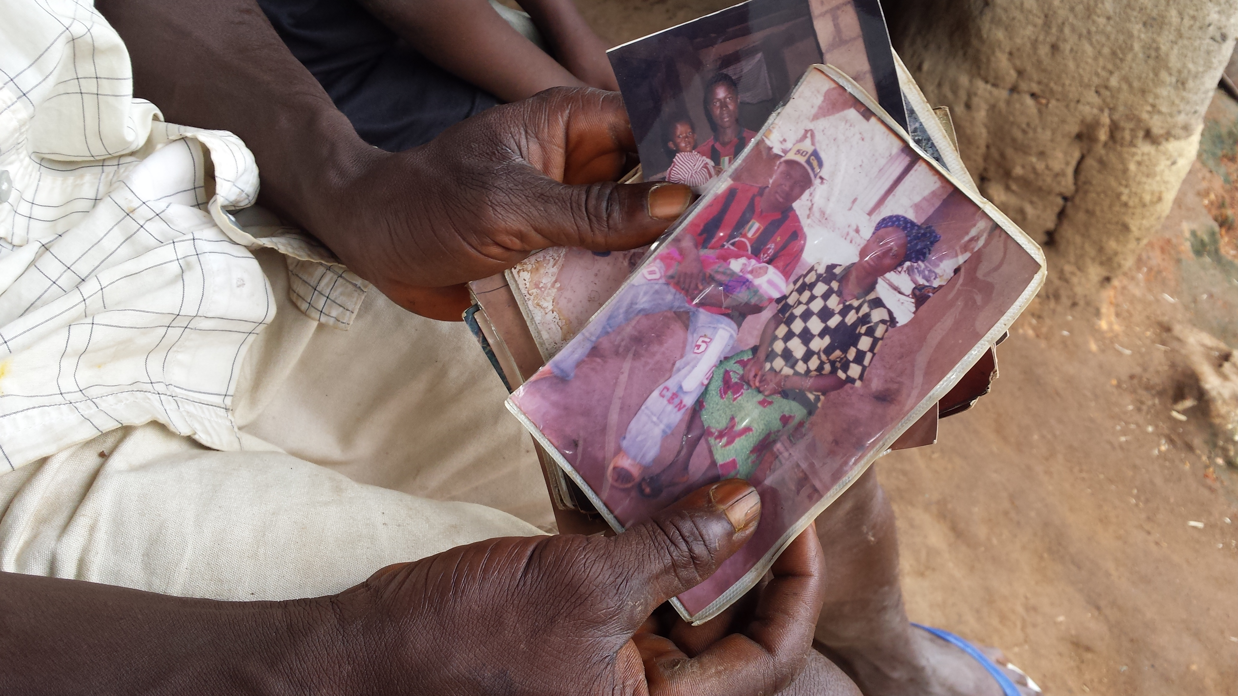 A family photograph of a new-born Emile, known as patient zero and his mother and father. Emile, his older sister Philomne, and his mother all died after contracting Ebola.