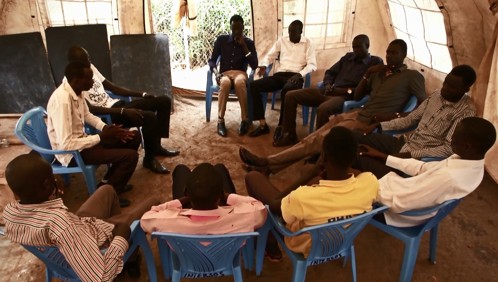 A meeting of the IDP Youth Forum.