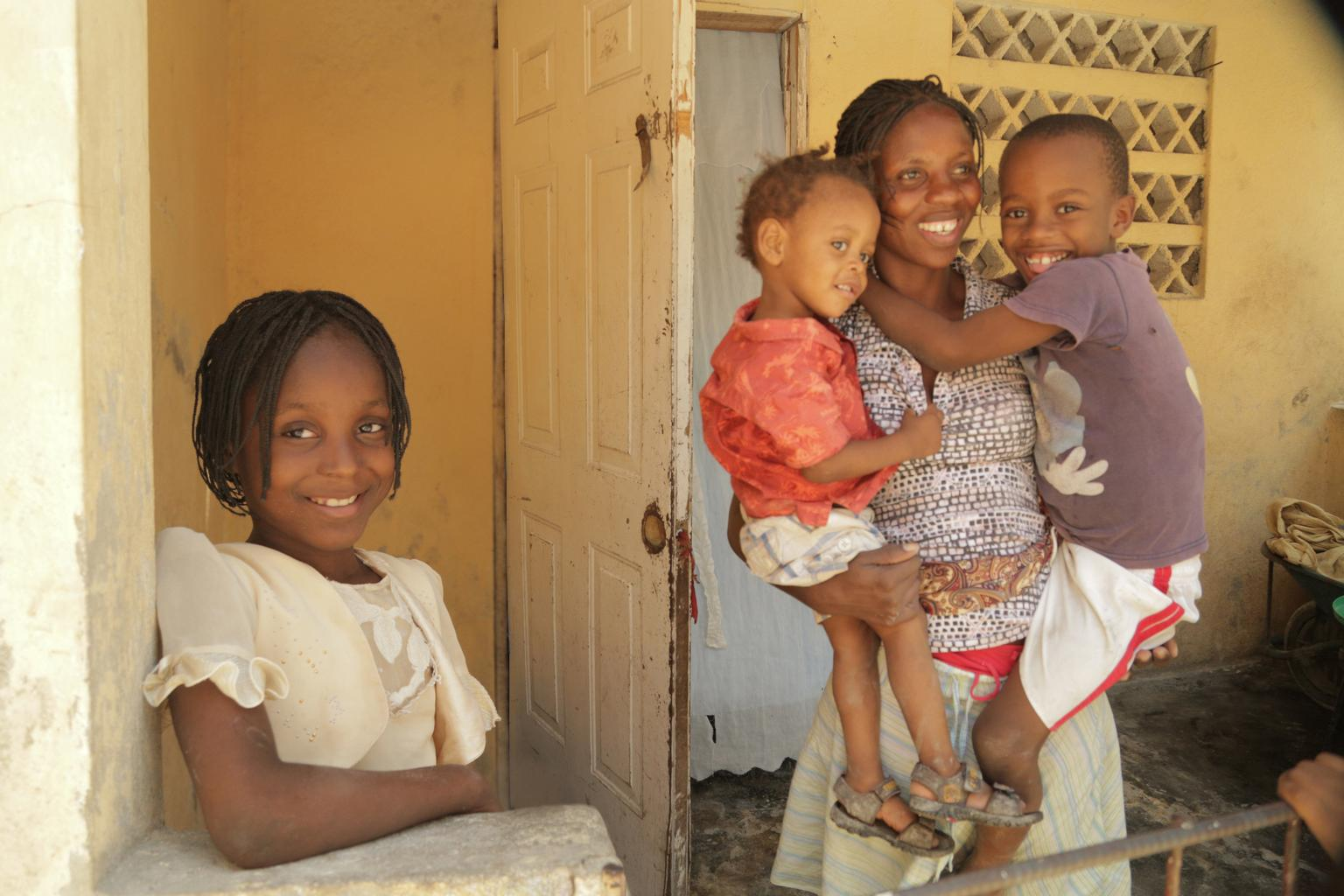 Nearly three years after being reunited with surviving family - post the earthquake -Mitchialine is doing well.
