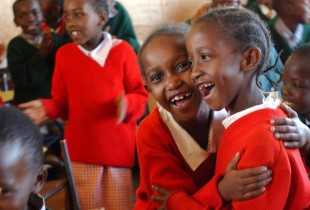Children from the Ruthimitu Primary School in Nairobi, Kenya.
