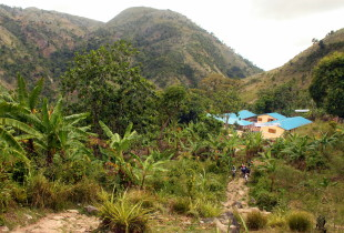 The Mont Sinai school nestled in the hills.