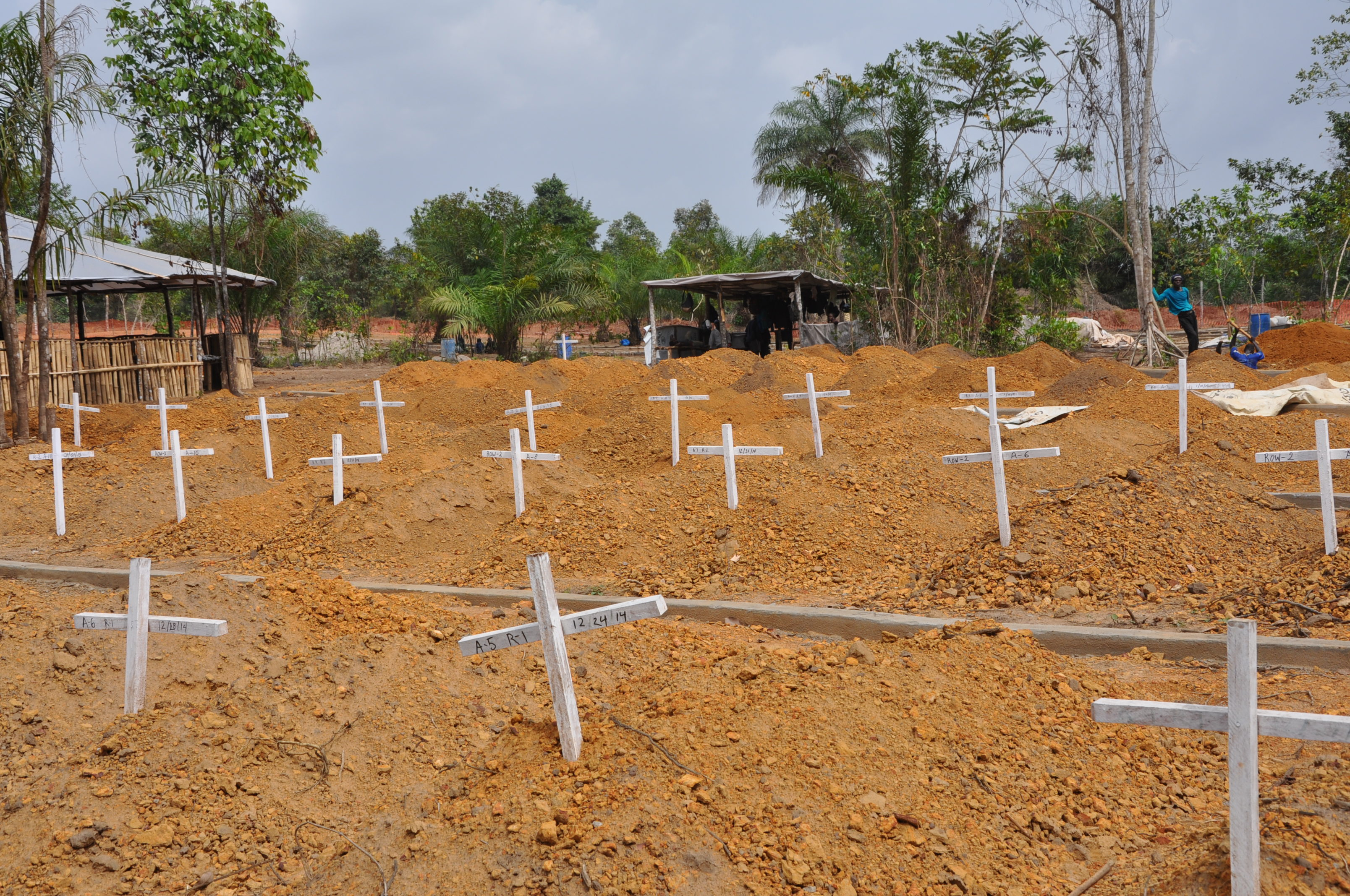 The cemetery on Disco Hill outside the capital Monrovia. As of February 5th it was the final resting place for 353 people. The cemetery opened in December 2014 and serves Monteserrado and lower Margibi counties.