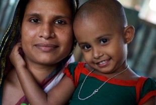 A mother and child from Bangladesh.