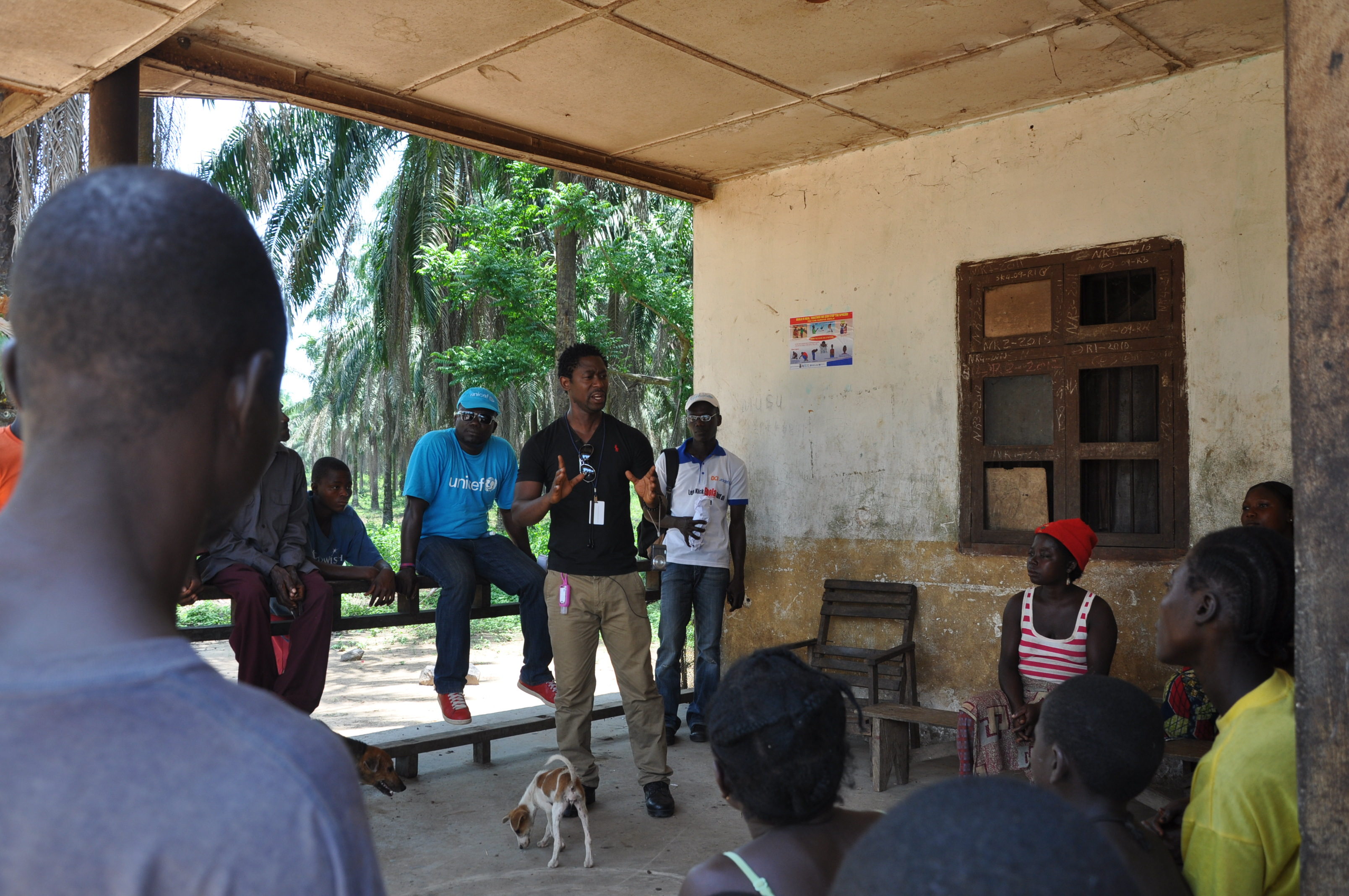 Dutch and his team are key to building trust with communities and helping them protect themselves against Ebola.