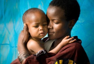 A mother and her baby in Arusha, Tanzania.