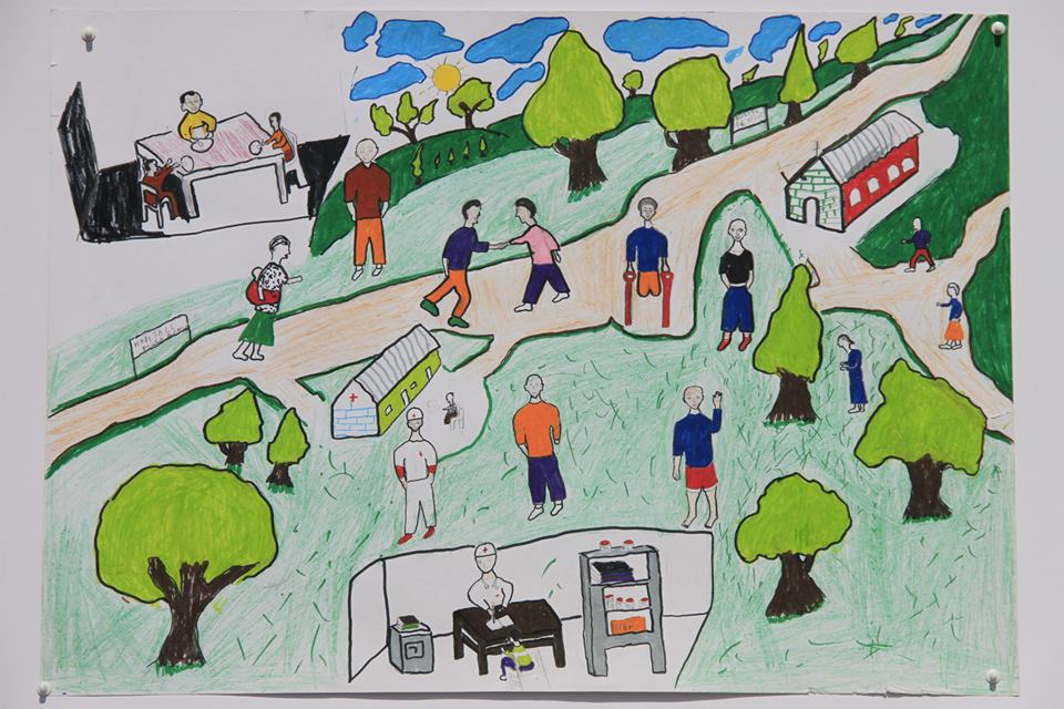 Winning drawing on a Better World for Children by Ainuliwe Eliudi, 12 years old
