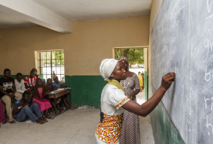 Grace in her classroom at the Government Secondary School in Maiduguri, Northeast Nigeria.
