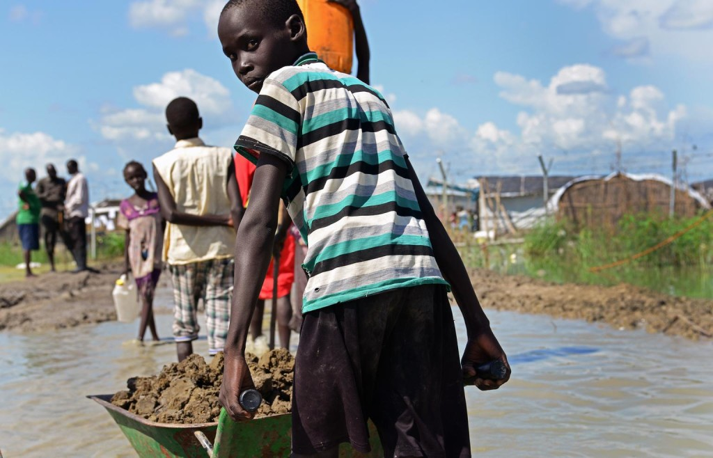 Le site de protection des civils de Bentiu.