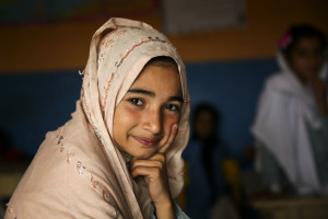 """Ayesha (9) a student at the Mashal Model School, a charity school, in Islamabad says, """"Toilets are important because how can they not be important?"""""""