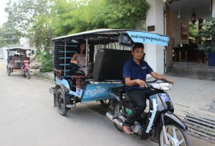 Cambodia's first accessible tuk tuk