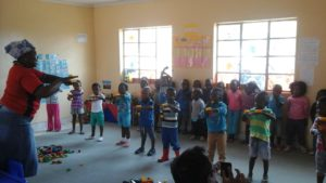 "The Swarishing Centre is located at the end of a dusty road in a small village. It is where nearly 300 children between the ages of 2 and 5 spend their days learning and playing. Swarishing means ""joining hands together"" in Sepedi, a language spoken in the Limpopo province of South Africa."