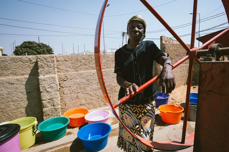 A woman at a well.