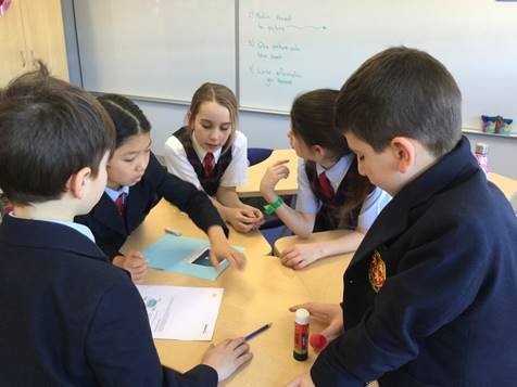 Children in classroom discuss climate change