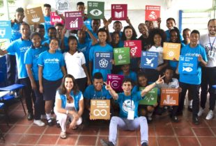 """""""Release the yellow butterflies,"""" young people set sustainable goals"""
