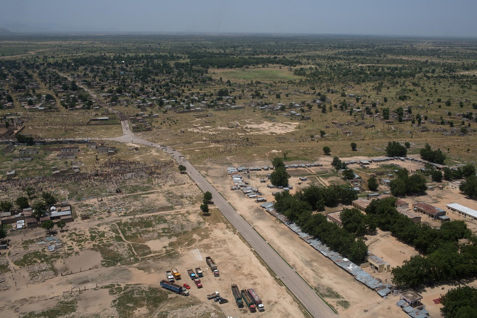 A long aerial view of Banki