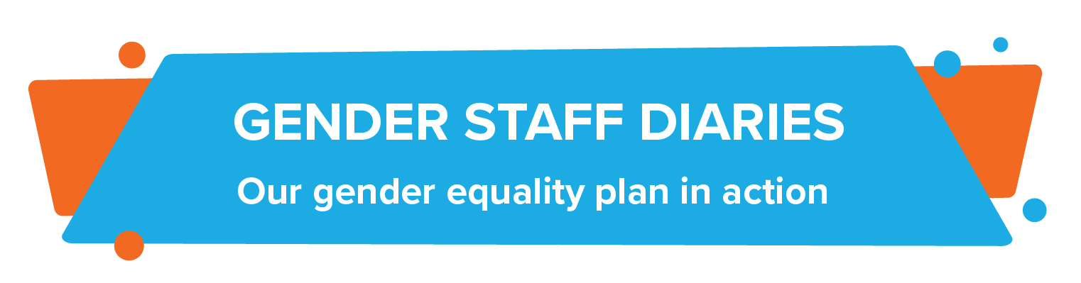 Graphic banner titled Gender Staff Diaries