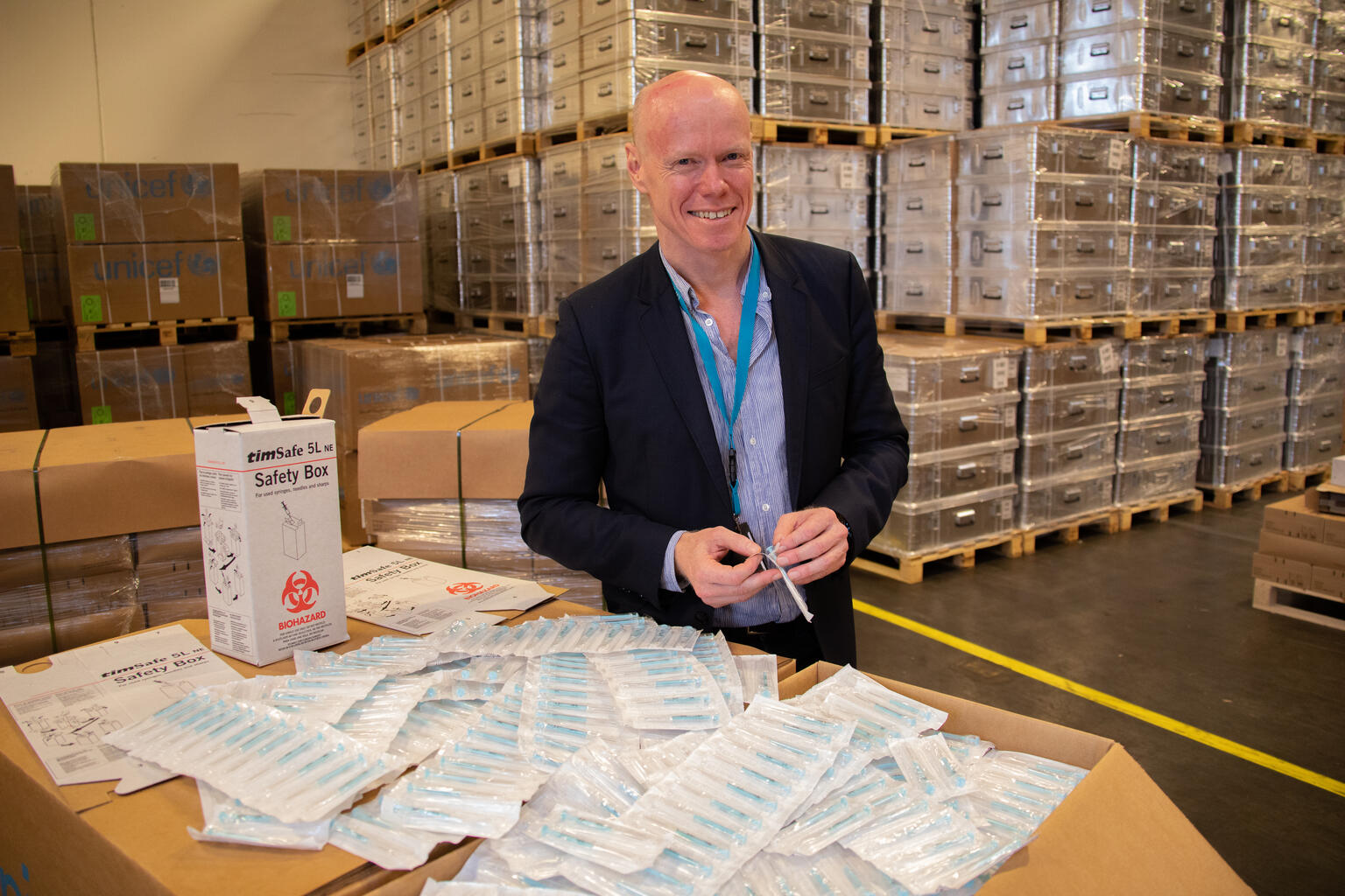 Robert Matthews, head of the Medical Devices Unit at UNICEF Supply Division